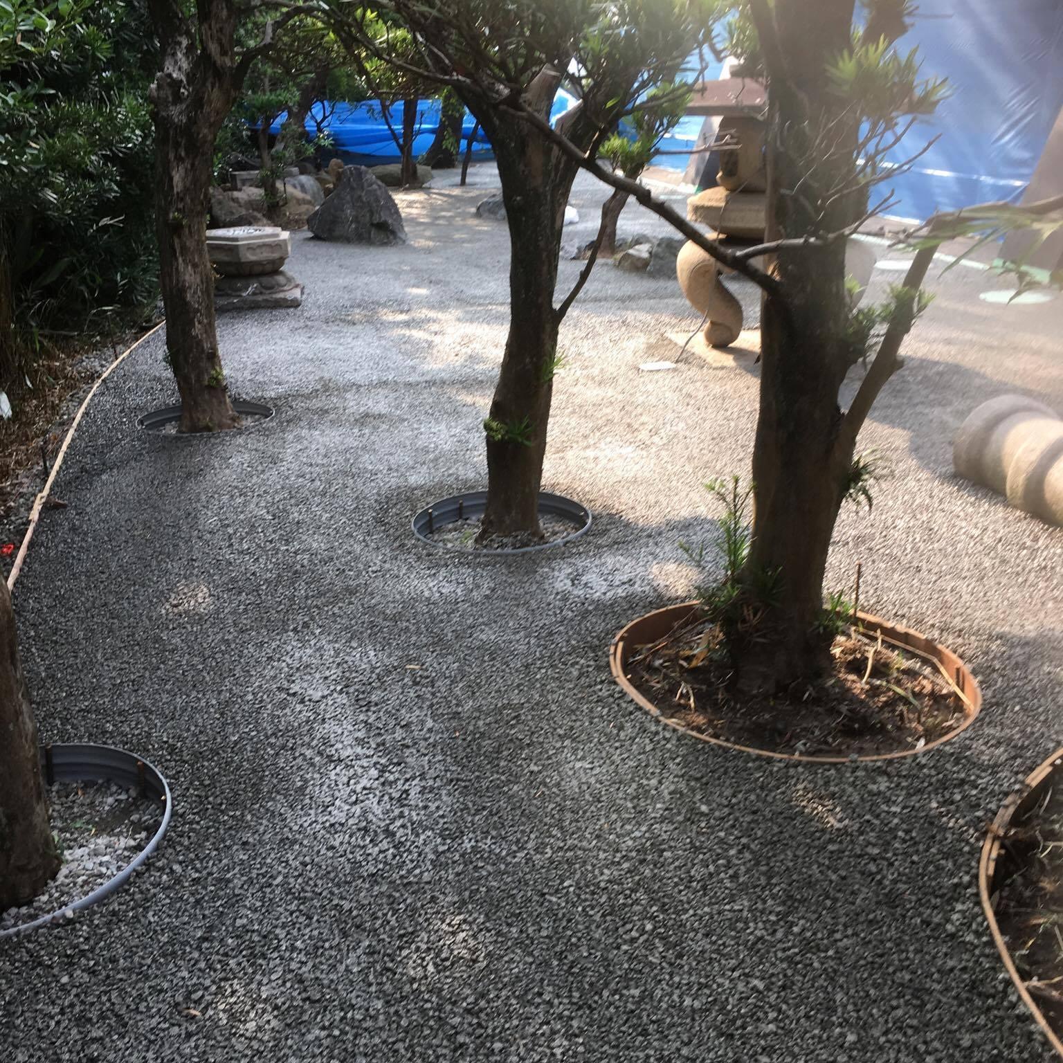 「今日はドライテック祭り!」 和歌山・透水・エクステリア・草・裏庭・集合住宅・水たまり