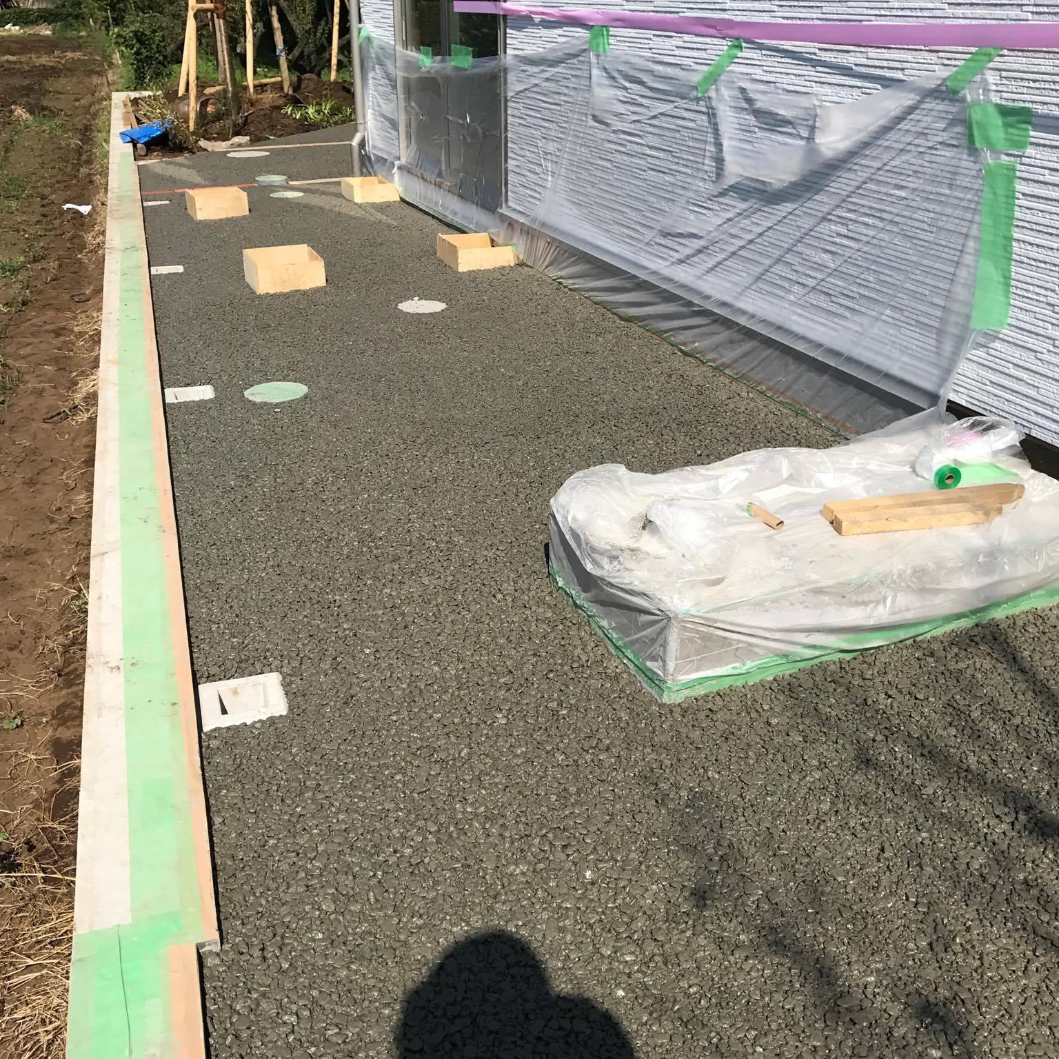 「おしゃれな成城でも透水やります」 透水・見学会・東京