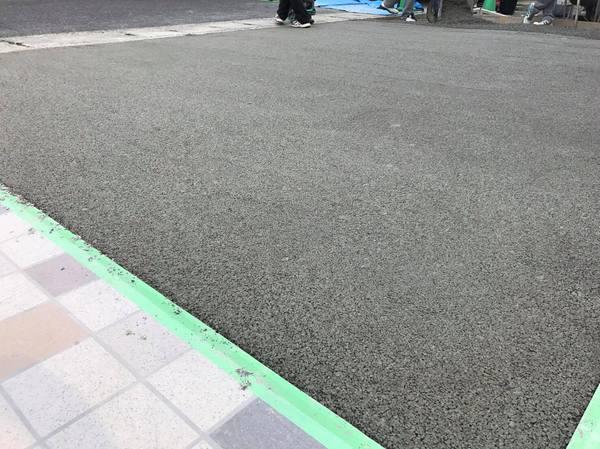 「香川工組で新しい土間コン」 香川・土間コン・透水性コンクリート