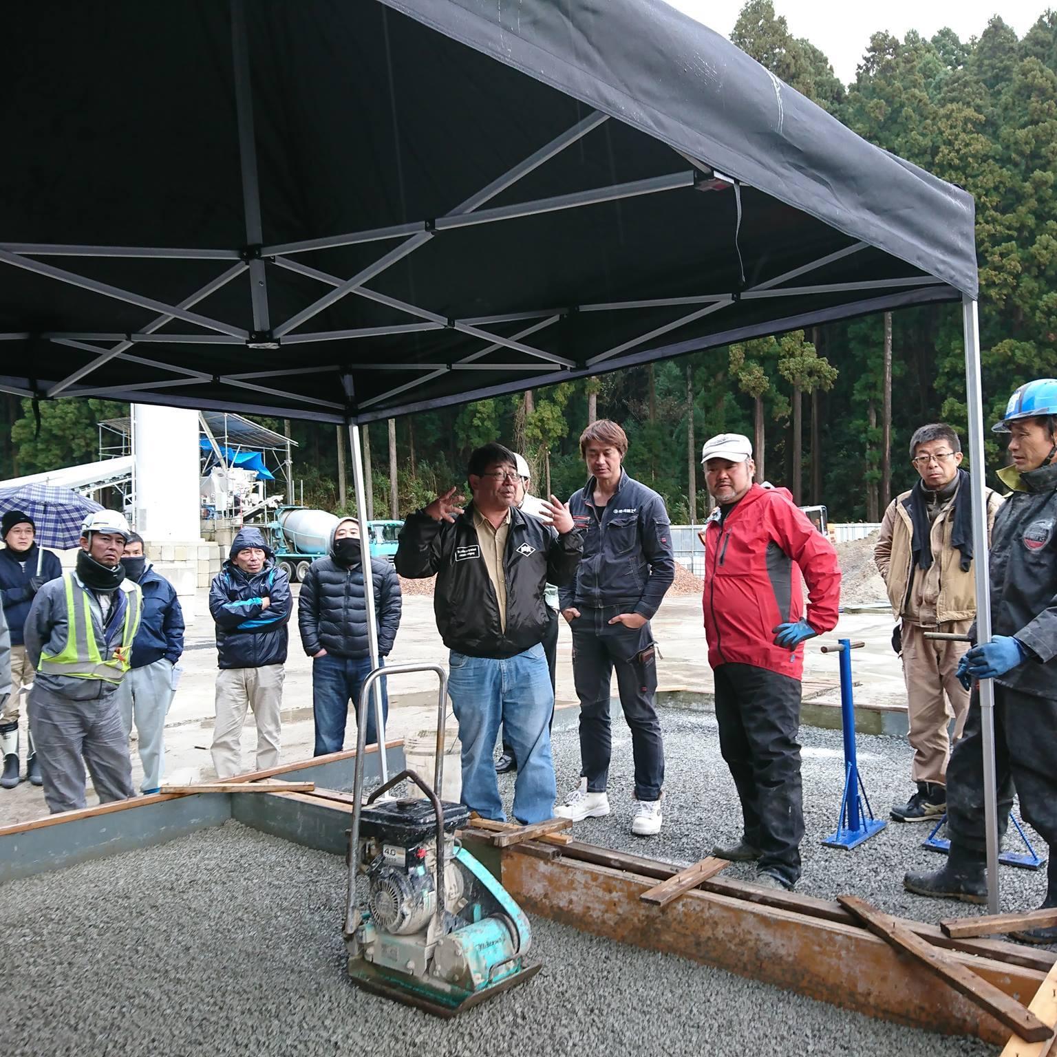 「ラップ調に説明するまさつ」 福井・土間コン・県学会・エクステリア・透水