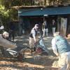 「流山の鉄塔に新しい土間コン」 見学会・千葉・排水・水はけ・ぬかるみ