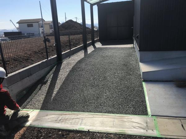 「獅子鍋と宮垣建設と土間コン」 透水・見学会・静岡・エクステリア・駐車場