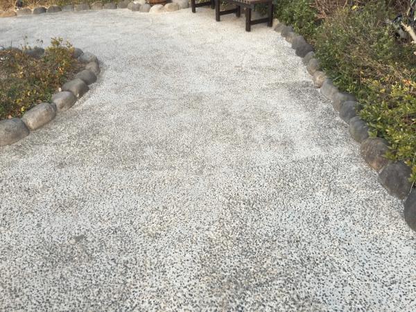 「洗い出しをするくらいなら」 エクステリア・土間コン・透水性コンクリート