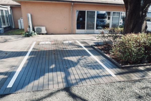 駐車場がウッドデッキに!?エクステリアの新常識|ウッドデッキ・透水性コンクリート・ドライテック・駐車場