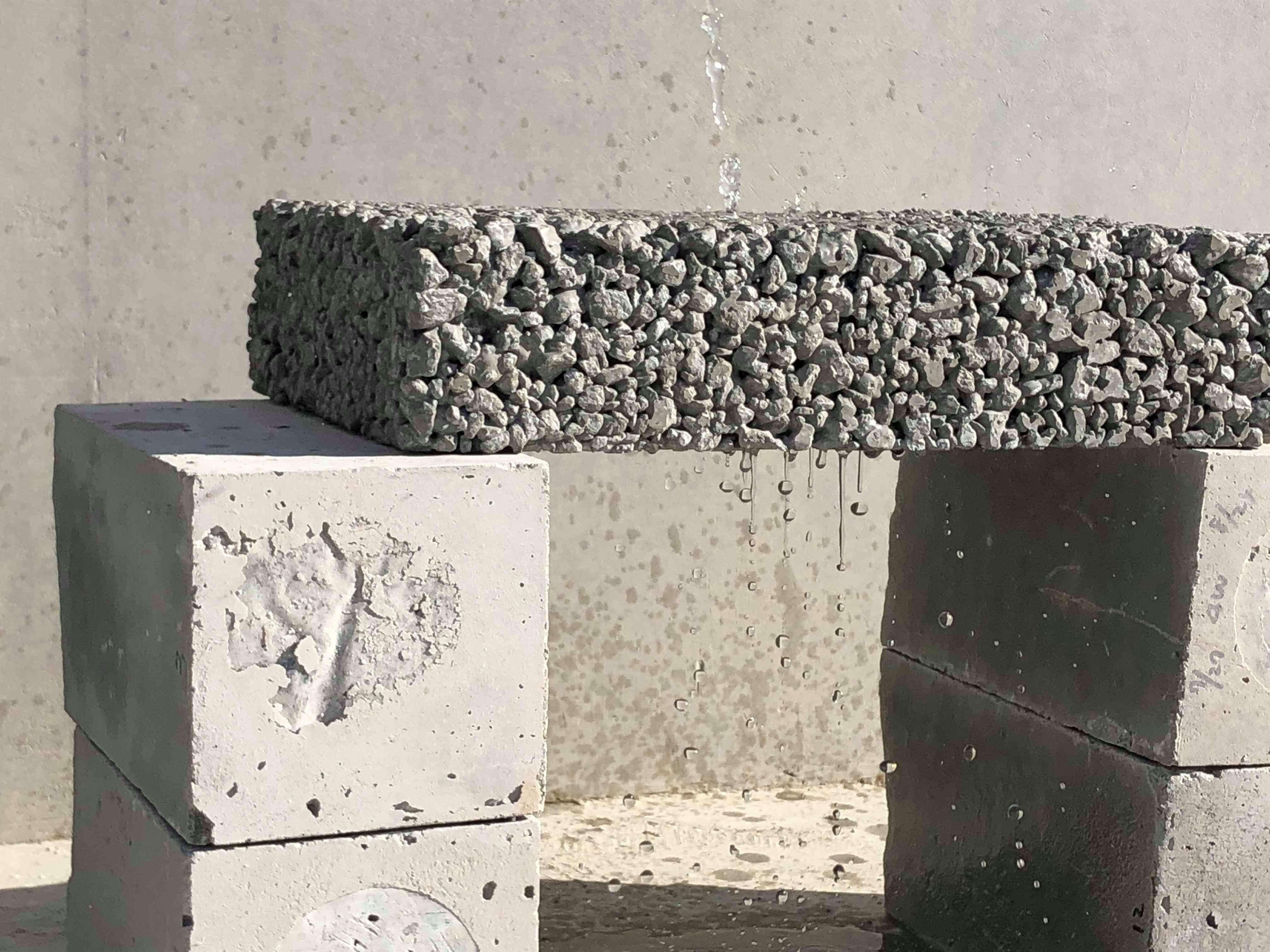 「今日から新規事業としてスタート|透水性コンクリート」