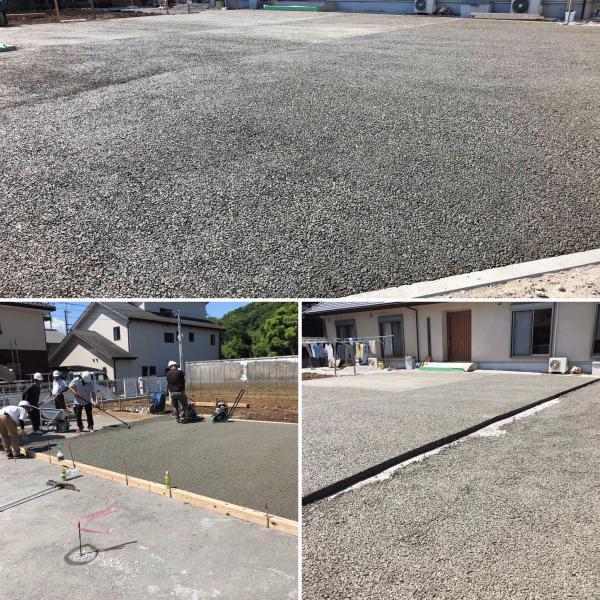【静岡】「宮本さんは将来190m2の透水性コンクリートを採用してくれるよ!」190m2、6人、6時間30分