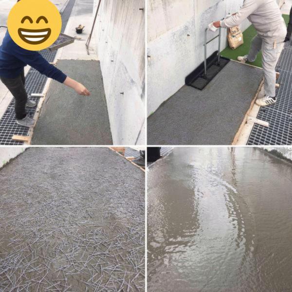 【早い】【安い】【楽】ワイヤーメッシュ配筋による土間コンクリート打設から解放される日も近い【PP繊維】