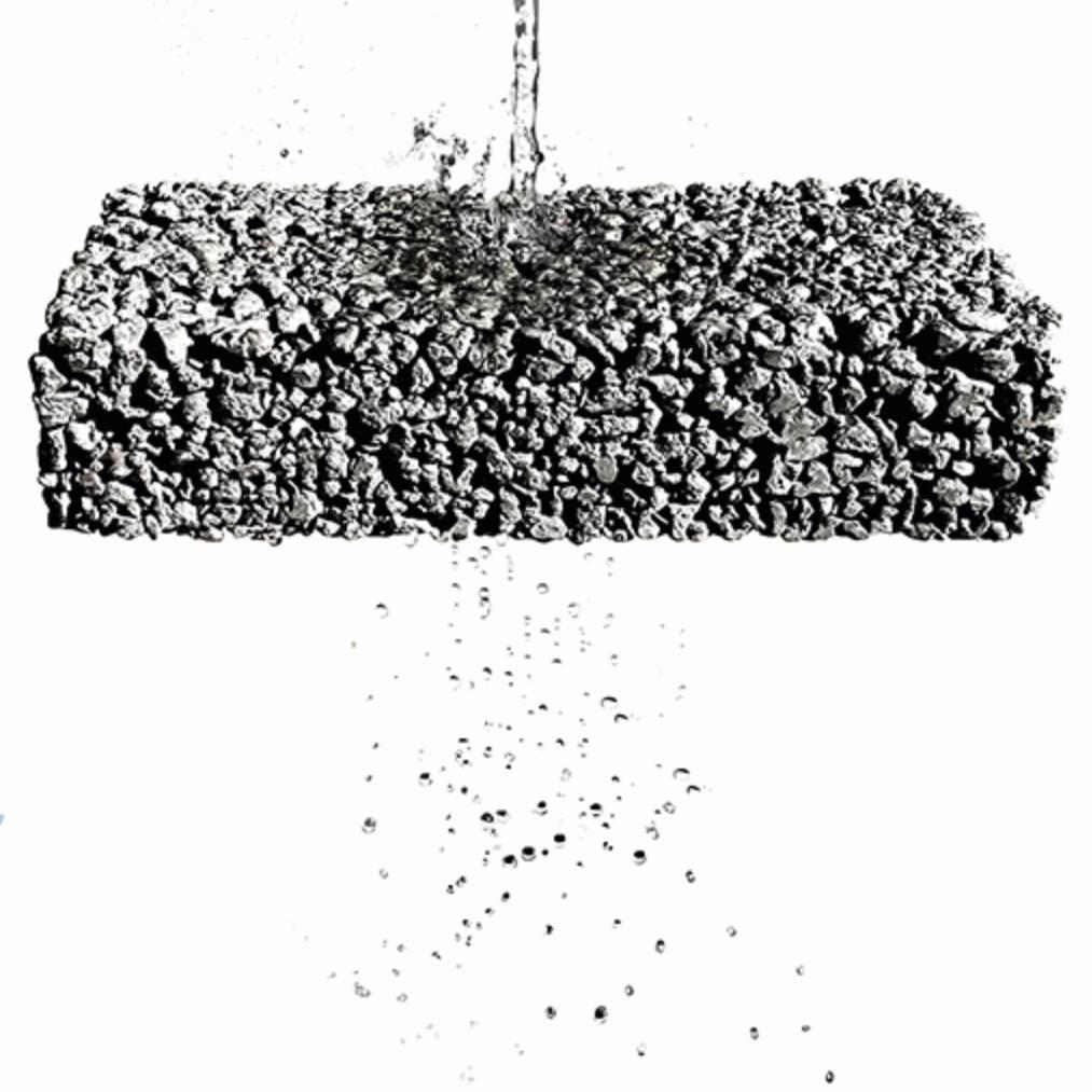 「透水性コンクリートご存知ですか?」マンション(共同住宅)舗装・修繕にお選び頂いてます!(DM案)