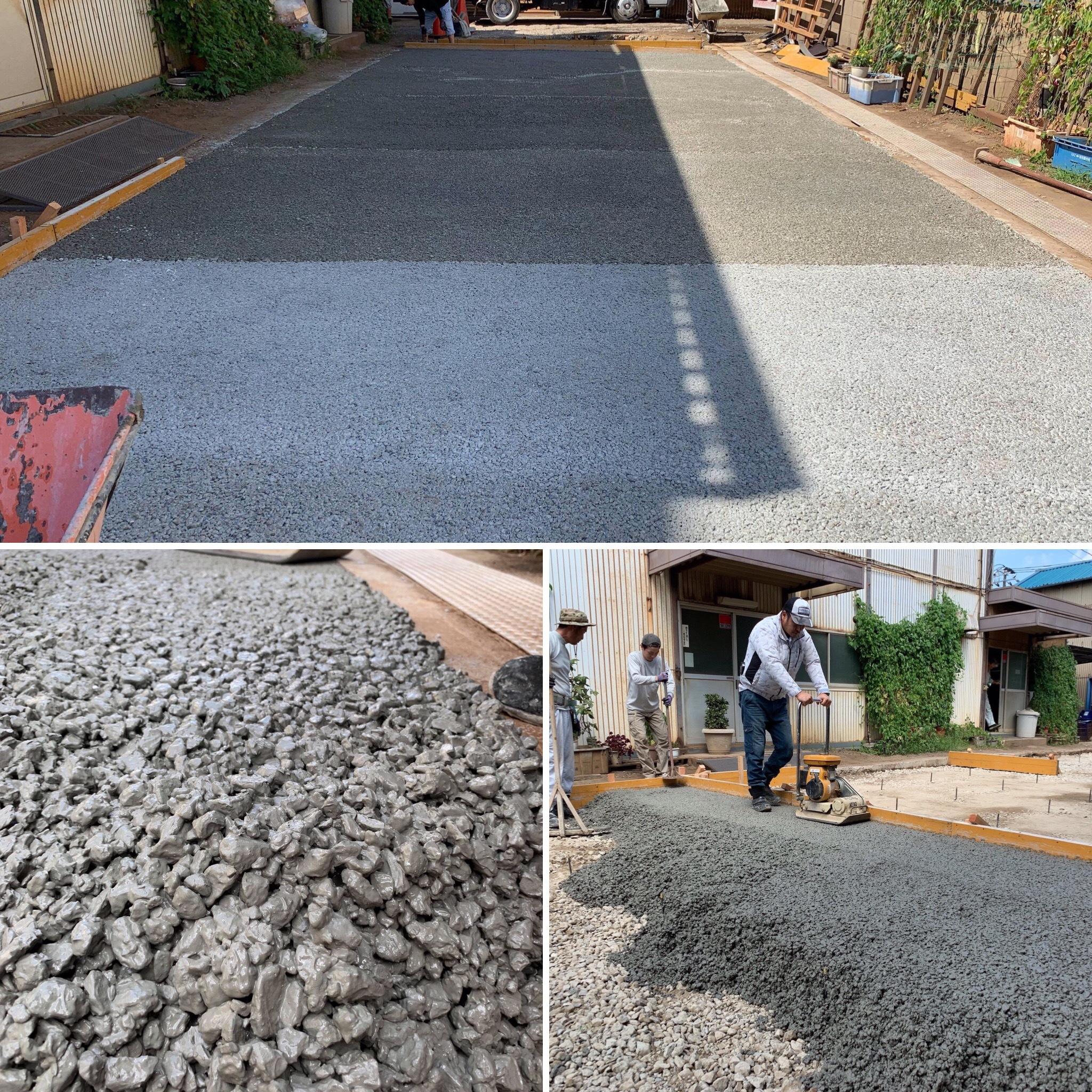 【神奈川】「アスファルトがたわんでフォークリフトが危ない」石油製品じゃない透水性コンクリートの真価