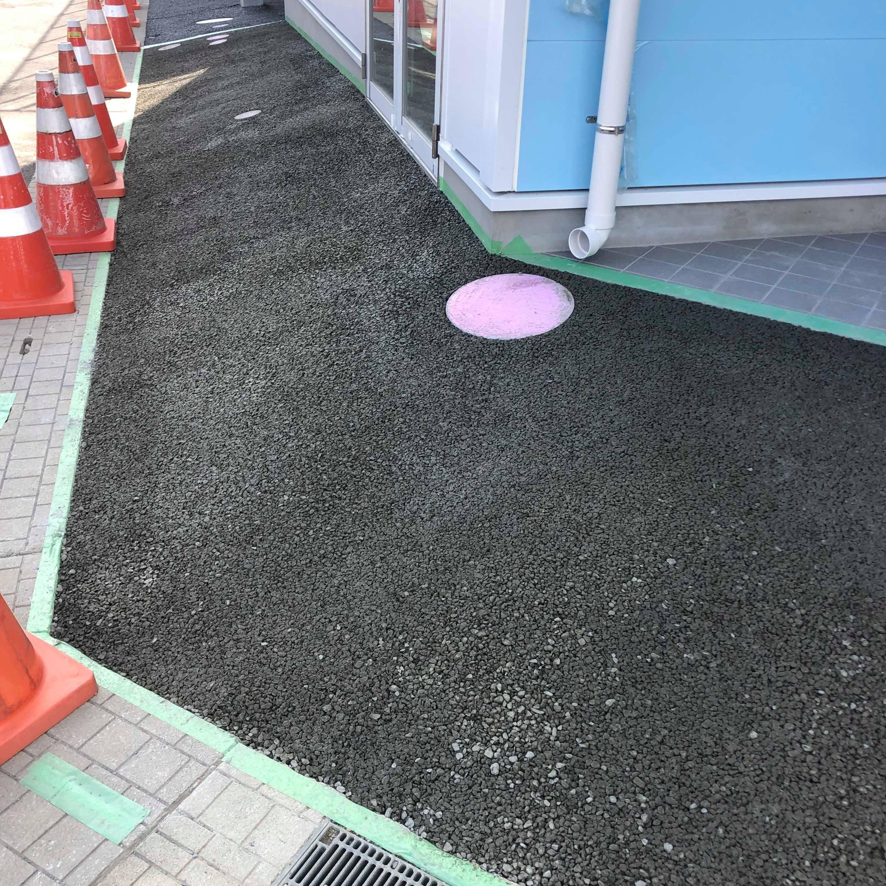 【茨城】「タイル・ブロックと調和する」アスファルトではなくコンクリートの透水性