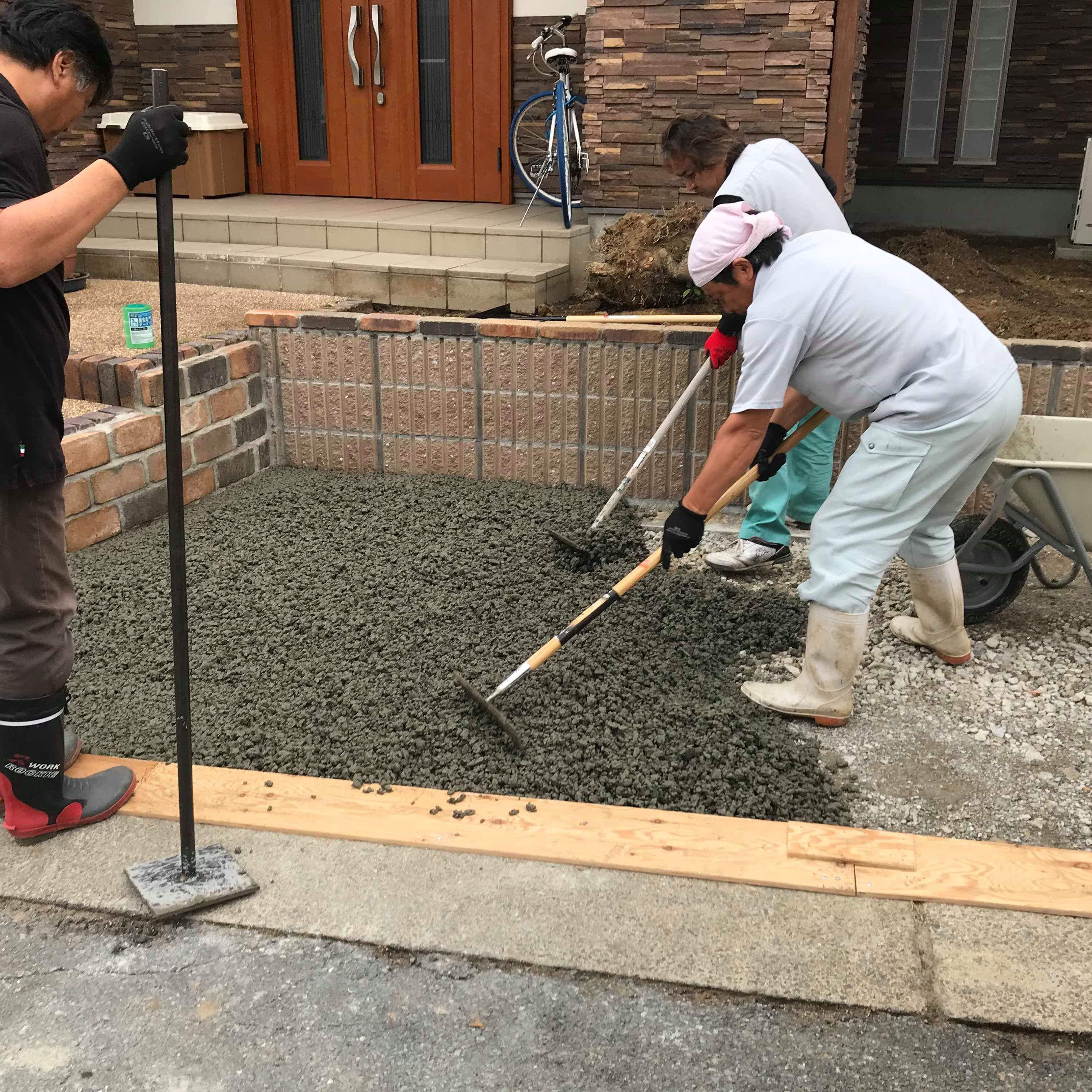 【福岡】「高級住宅地での採用!」まだまだとっつきにくい透水性コンクリート