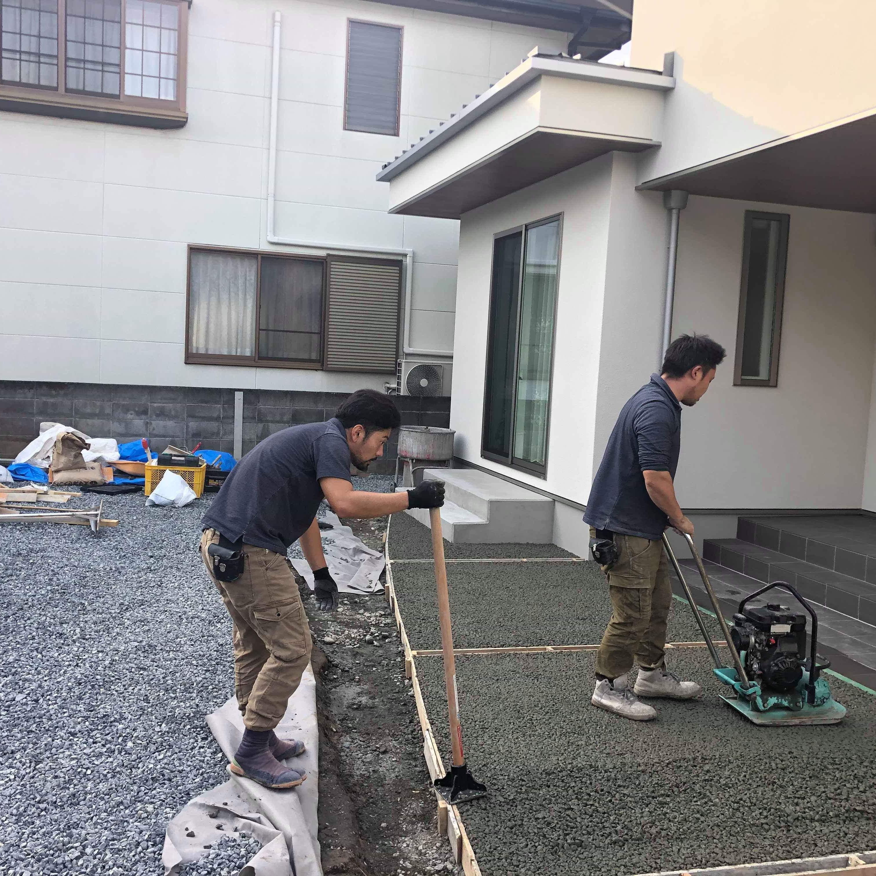 【静岡】「広いお庭の勾配がすべて家の方に向かっている」水はけ、防草、平ら