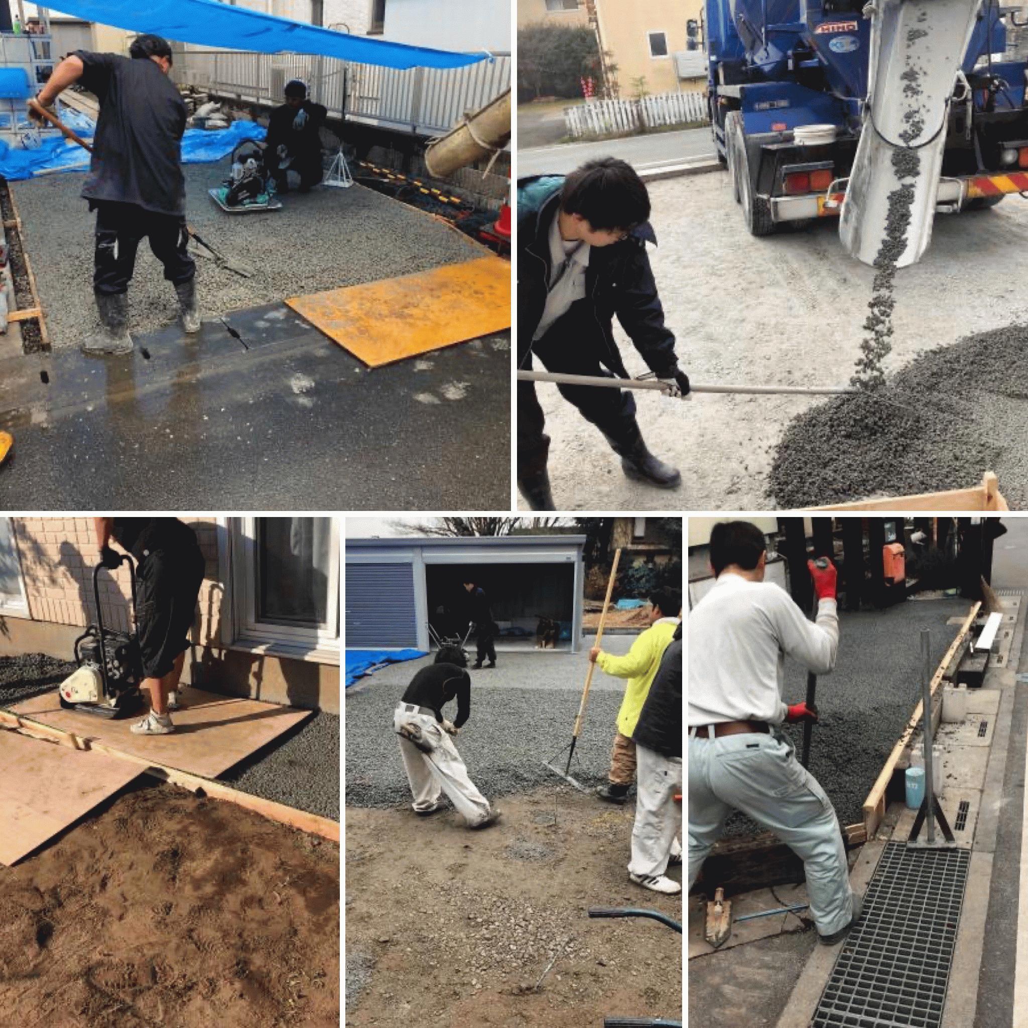 DIY土間コン(透水性コンクリート)施工実績まとめ
