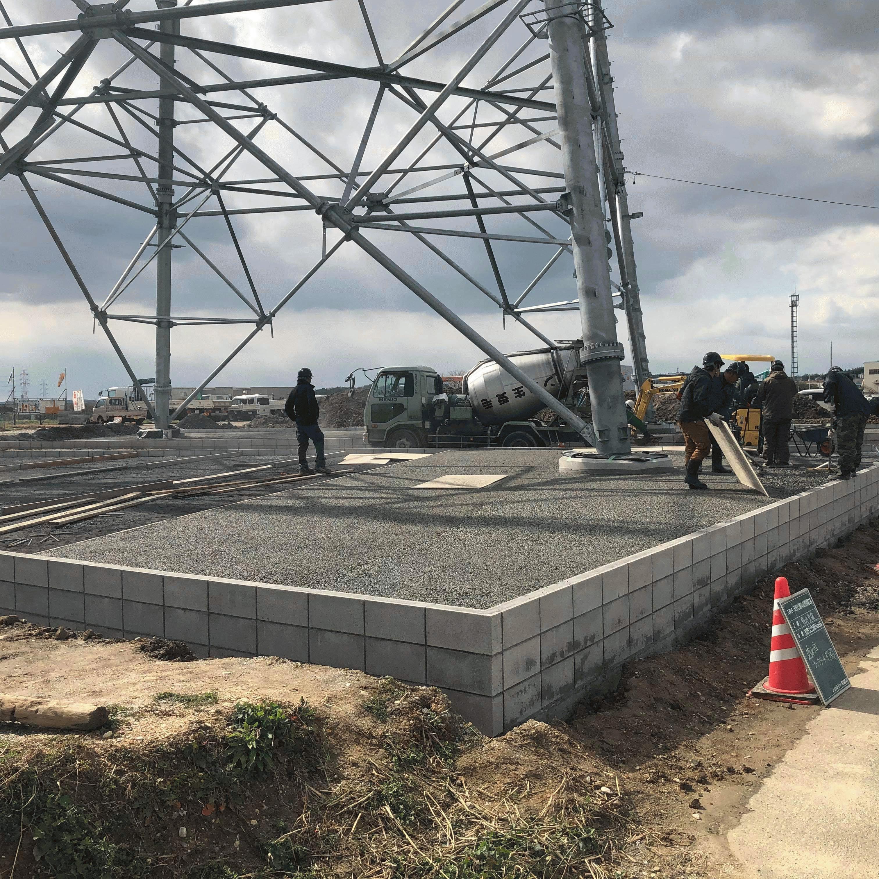 【愛知】「東電さんに引き続き中電さんでもご採用!」中部電力・送電線・塔内舗装・720m2