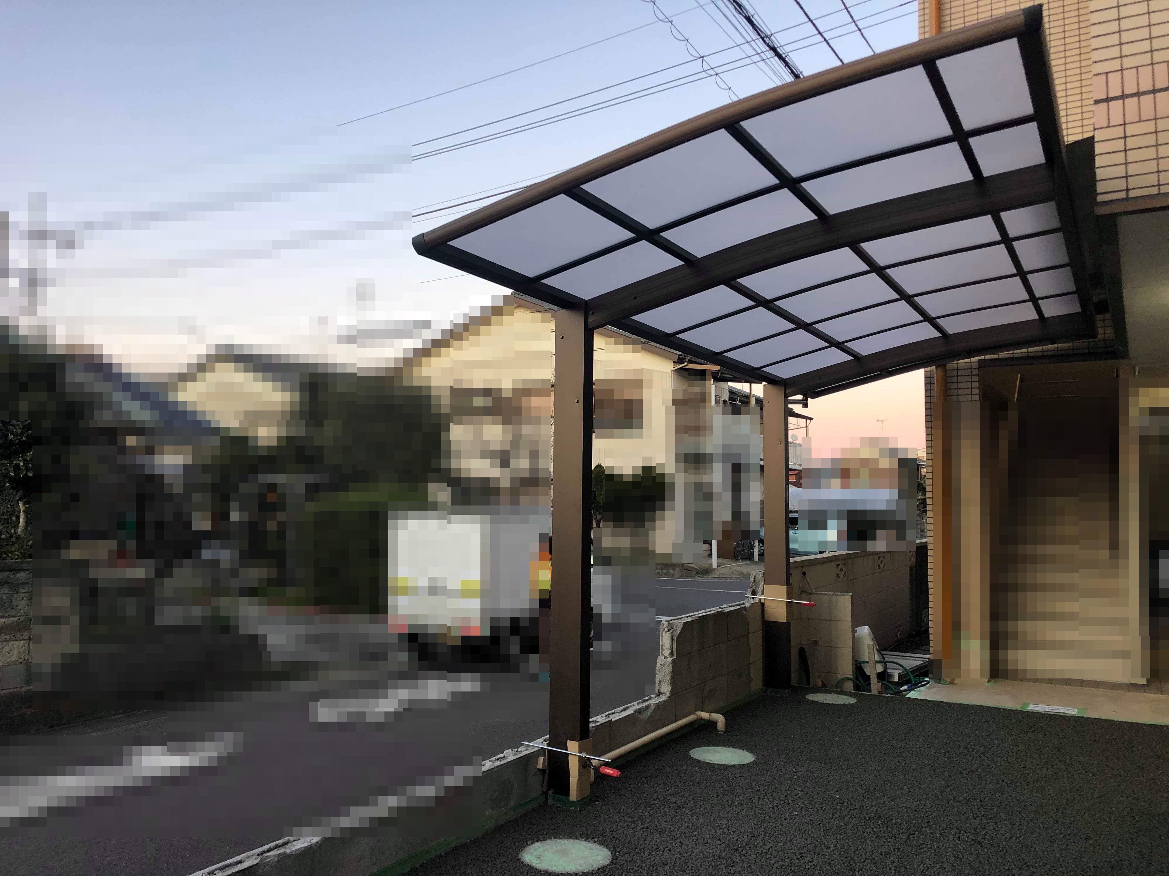 【埼玉】「衝撃のカーポートと土間コンを1日で施工」エクスショップ・透水性コンクリート
