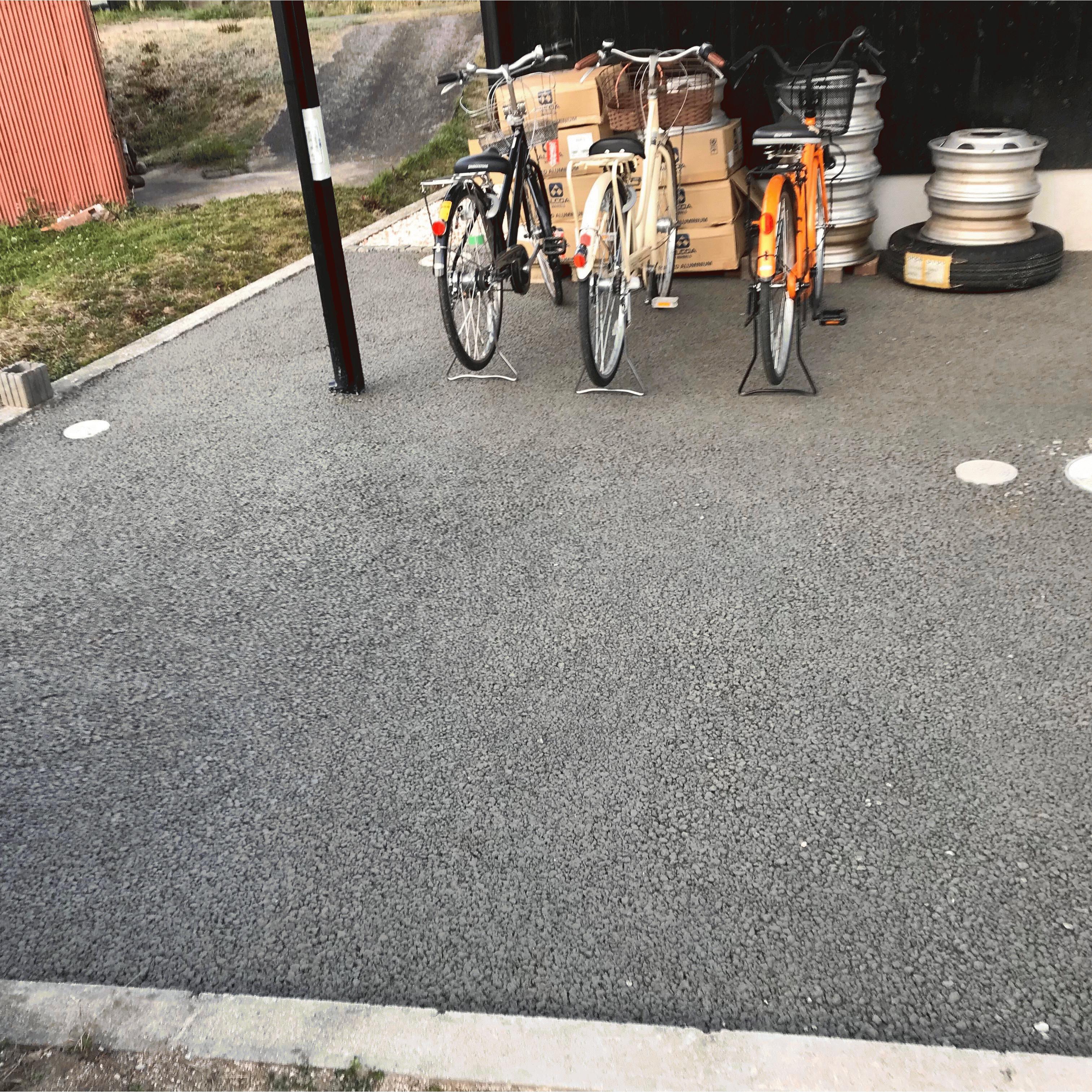 【岡山】「雑に扱ってもなんとかなる土間コンだからDIYに向いている」駐輪場・ひび割れ・白石建設