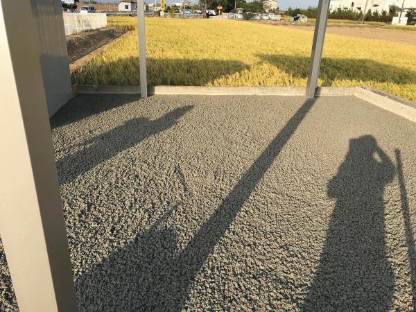 【岡山】「水はけもわだちも対策したい」資材置き場舗装・ナカイチ企画