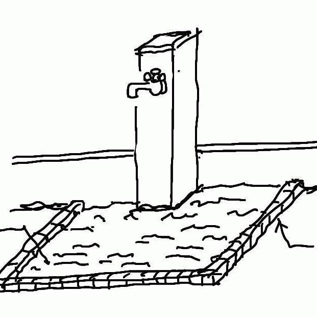 「既存のダサい立水栓を透水性コンクリートでおしゃれ&便利に!」排水・ぬかるみ・雑草・愛犬・DIY