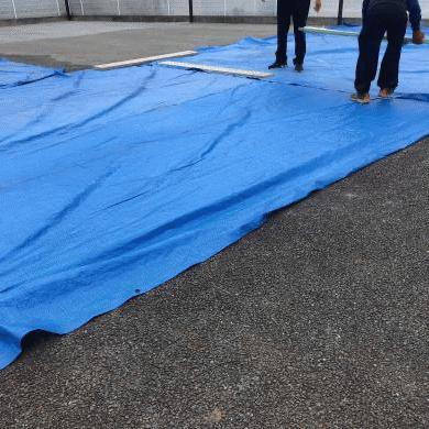 「雨の日でも施工ができる透水性コンクリートの実力」梅雨・工期