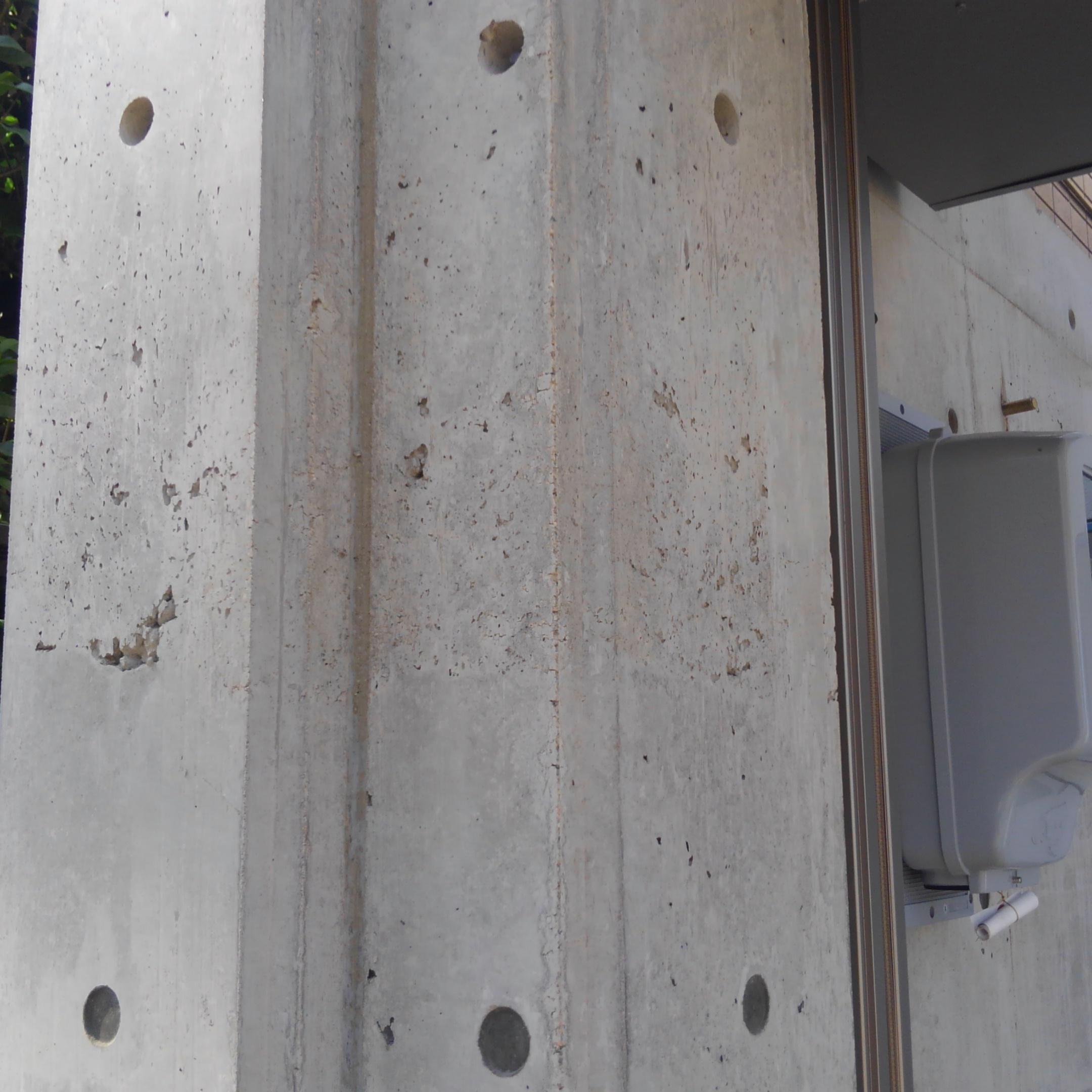 静岡県コンクリートエアあばた(ピンホール)補修工事