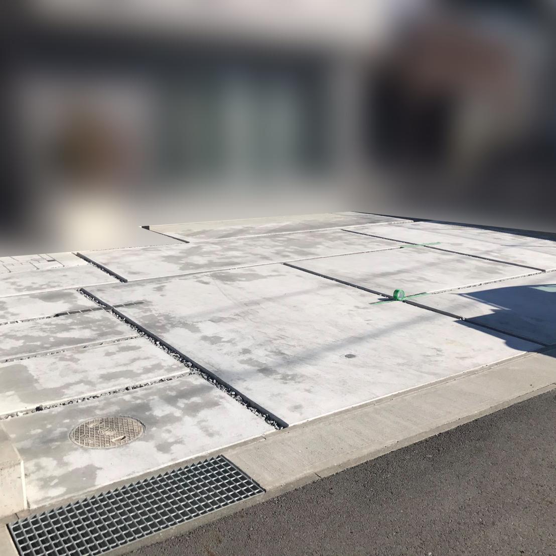 静岡県コンクリート駐車場土間色ムラ修正工事