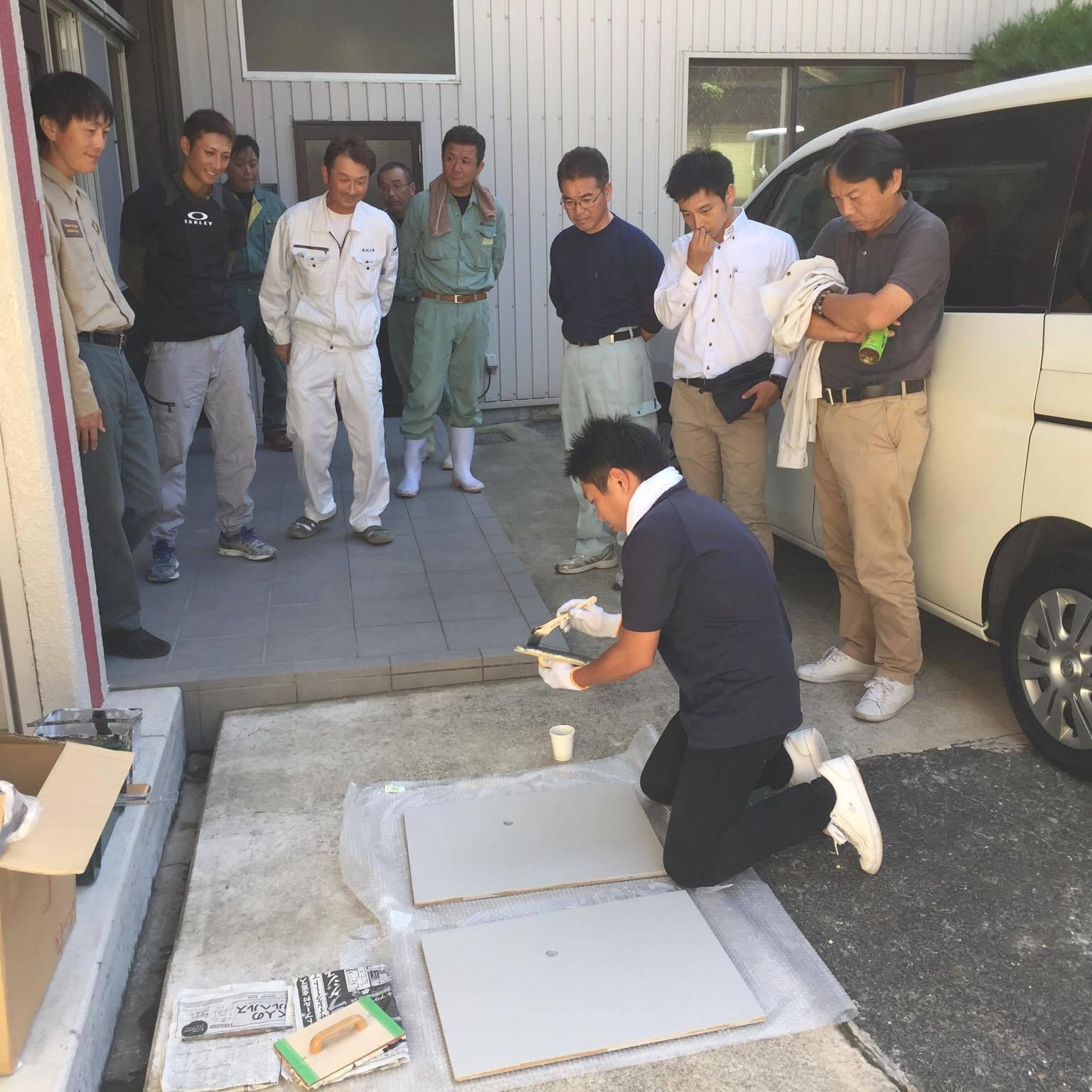 「熊本でも色合わせやります!」 色合わせ・コンクリート打ち放し・熊本・体験会