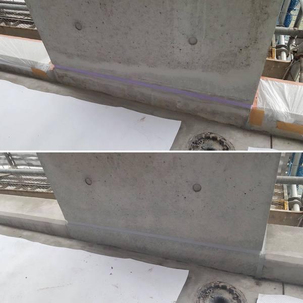 「建物の品質全体が向上する」 コンクリート色合わせ