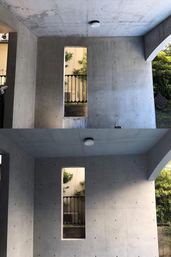 「許せない天井の色むら」にも 打ち放しコンクリート色合わせ補修が有効です!