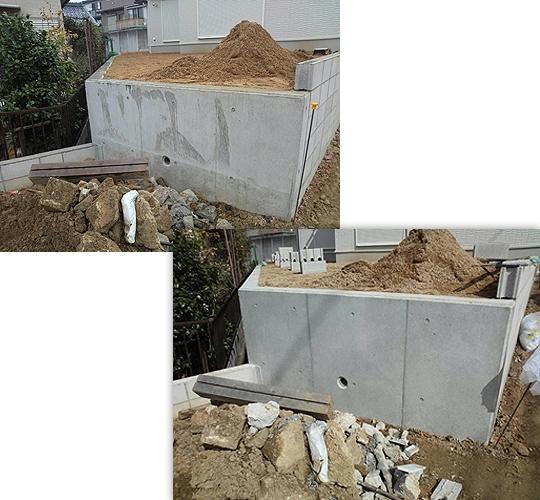 エクステリア擁壁 15平米