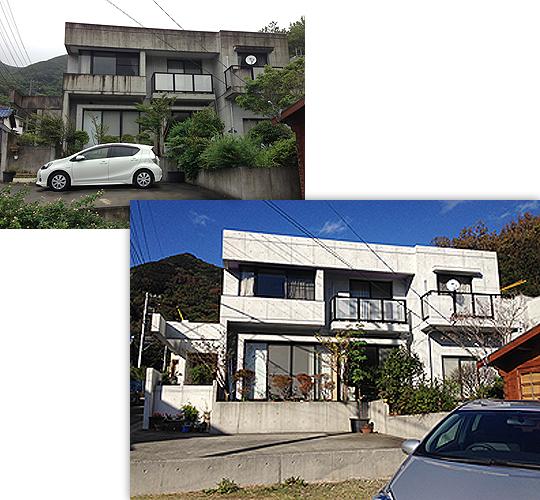 個人住宅 パネコート模様 築25年 改修 500平米