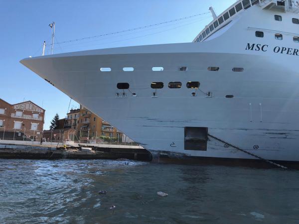 反対派市民団体「No grandi navi(ノー・グランディ・ナーヴィ、大型船反対)」