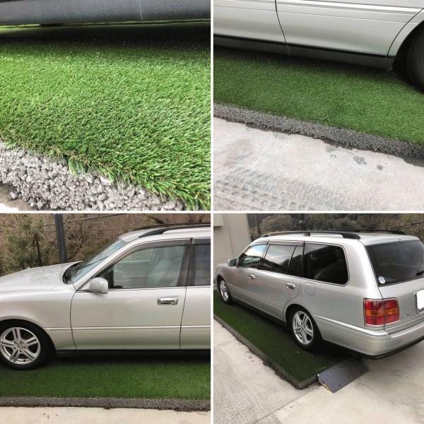 「おや?人工芝に車が乗ってるぞ」駐車場 Or→And パターの練習【透水性コンクリート】ならどちらもゲット!