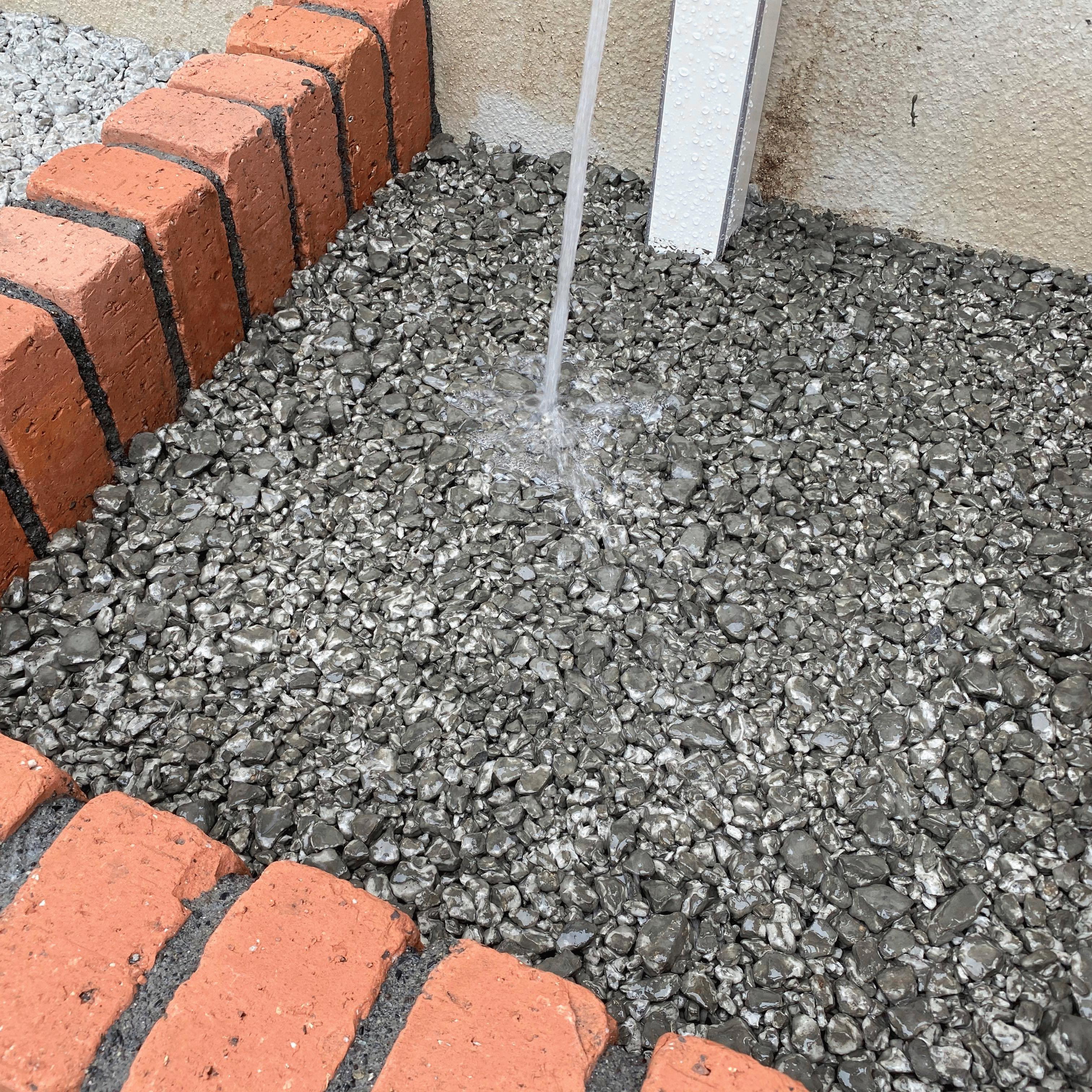 「立水栓とドライテック驚異の組み合わせ」DIY・透水宣言