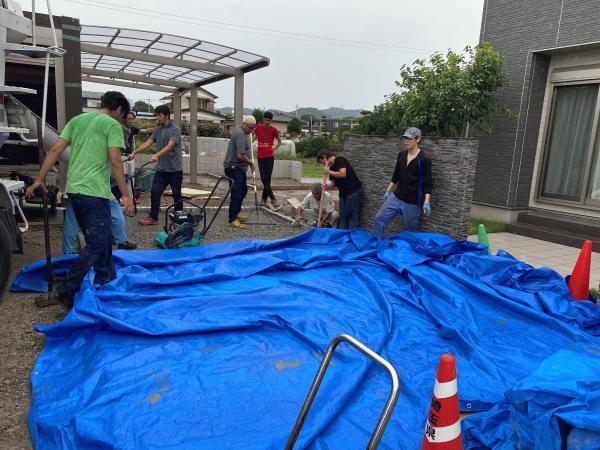 【埼玉】「10tの水が貯留される一般住宅の舗装」《逆勾配》《旗竿地》《犬走り》《雨天》のソリューション