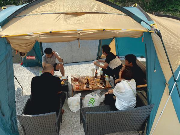 《庭キャンプ》「酷暑の中でその性能を体感?!」エクスショップご一行様との合同キャンプ研修開催
