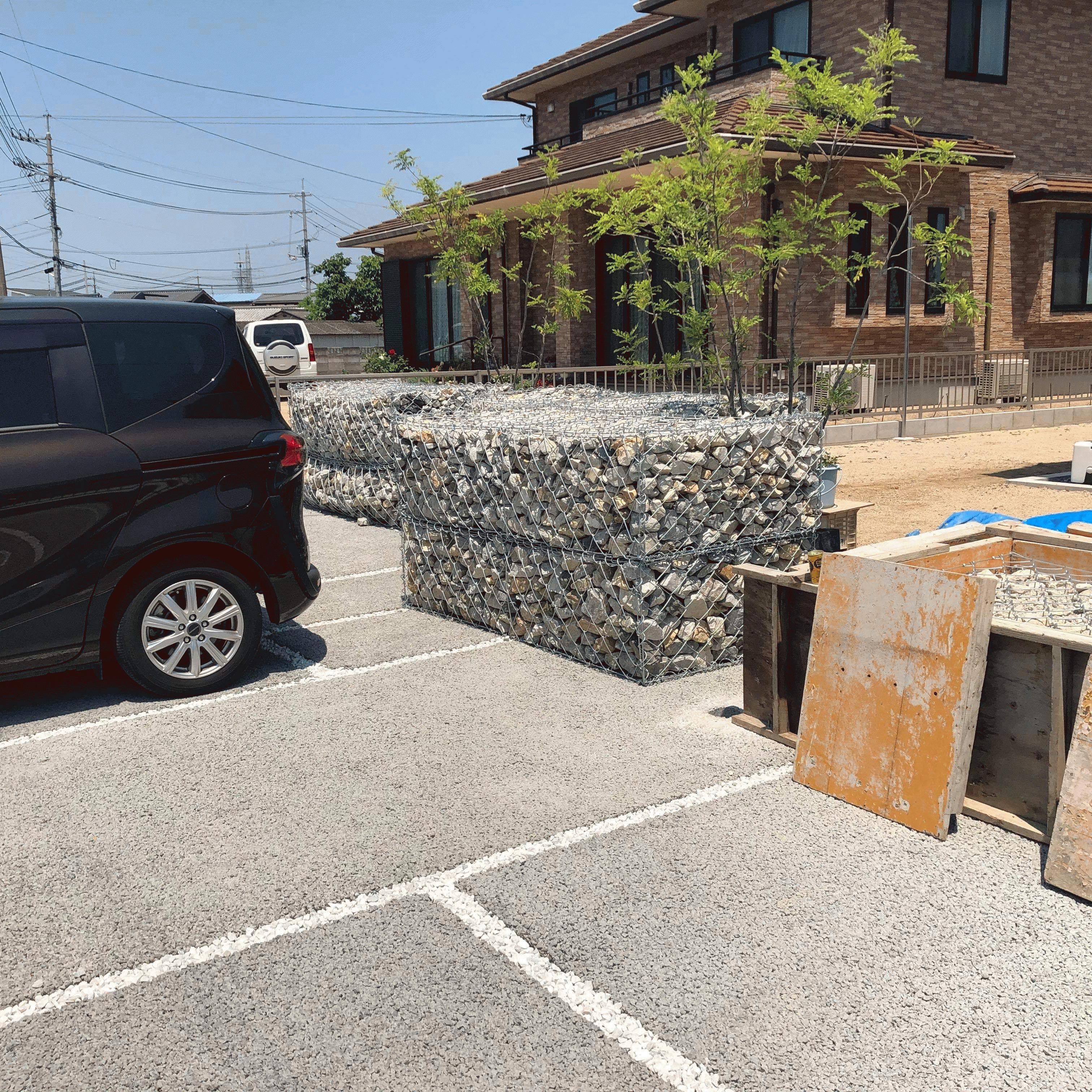 【岡山】「《蛇籠》と《ポーラスコンクリート》庭づくり新しい形」白石建設