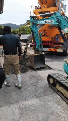 【鹿児島】「地球に蓋しない、ヒートアイランド現象抑制効果のある、洪水被害を軽減させる、エコな製品」木田組生コン・村田造園建設